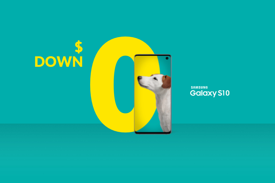 The Samsung Galaxy S10 from Fido