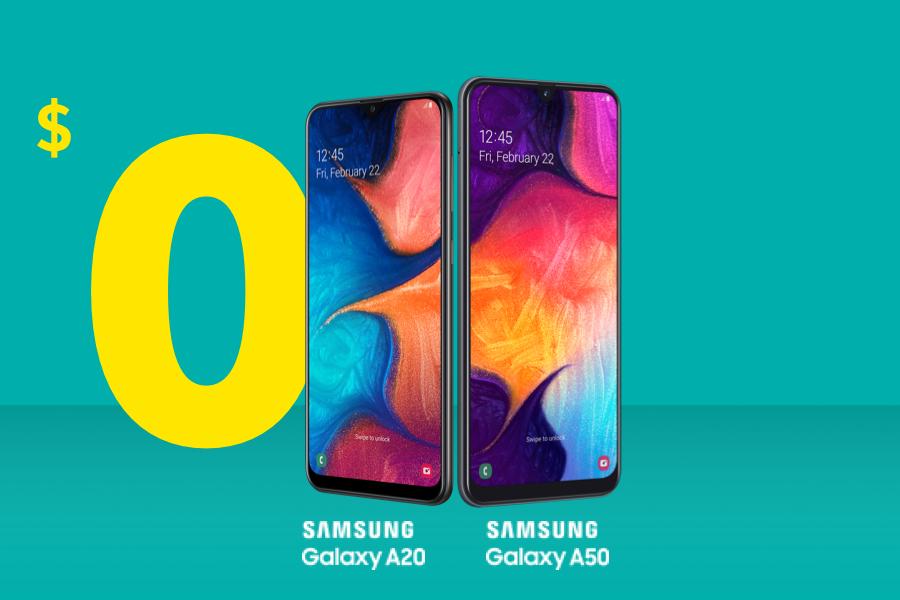 Samsung Galaxy A50 and A20
