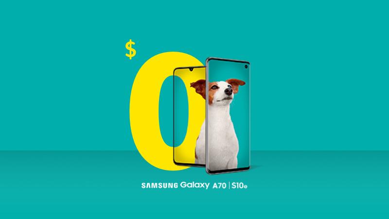 Samsung A70 and Galaxy S10e