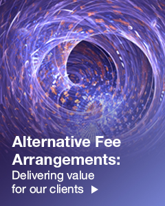Alternative Fee Arrangements Right Hand Side Banner