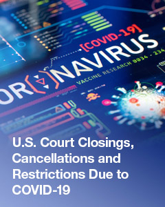 US Court Closings Side Banner