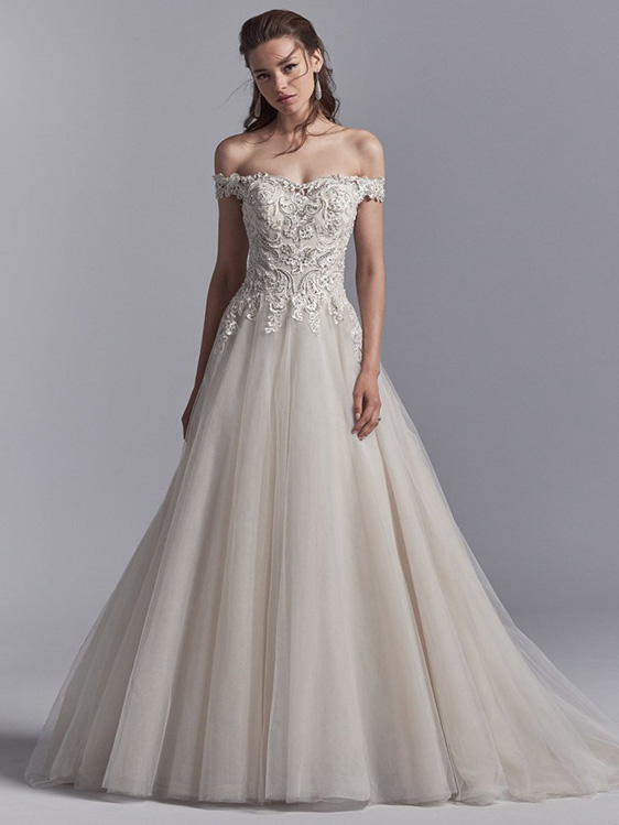 0c3e556df0ffd Off-The-Shoulder Wedding Dresses | Maggie Sottero