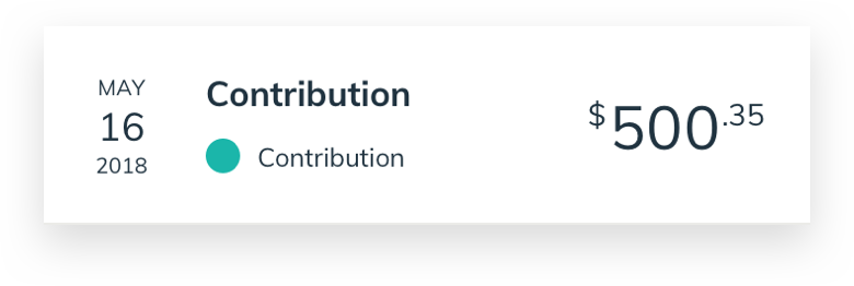 Contribution ui example