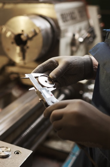 Person manufacturing a tool