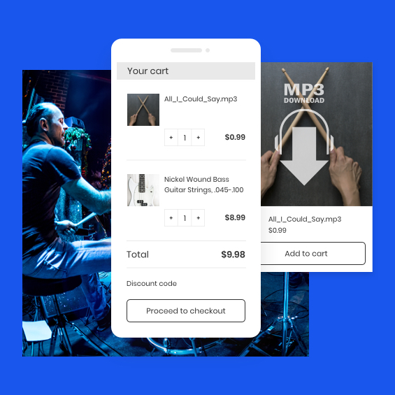 Musician's ecommerce site