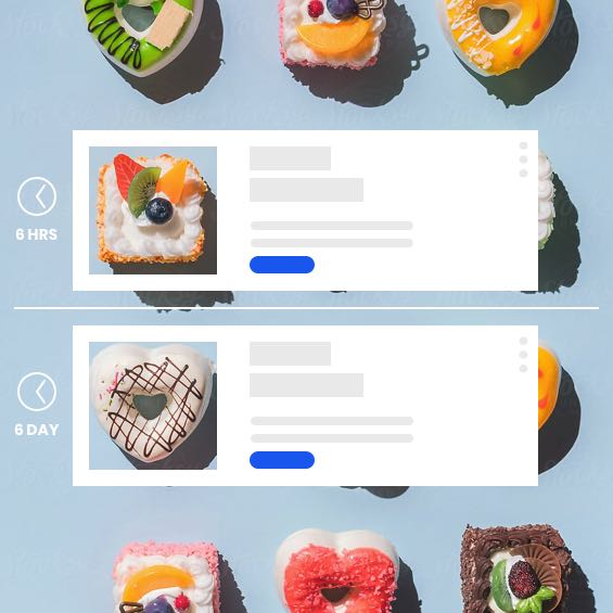 example of pastries in an automated email feature