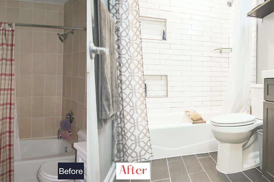 Transformations Two And A Half Bathrooms In D C S Trendy Logan Circle Blog Remodelmate
