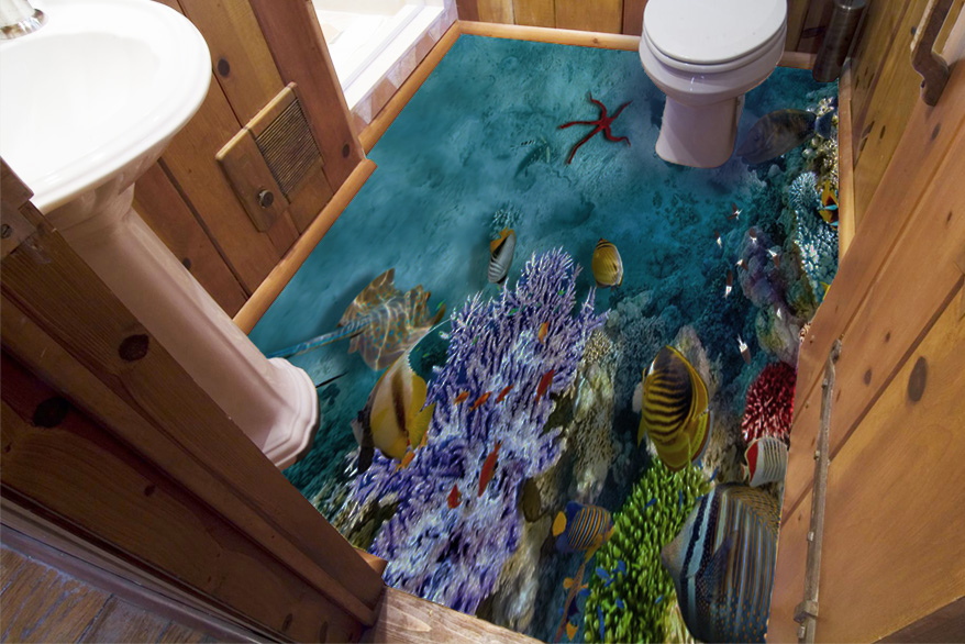Coral Reef 3D Epoxy Floor