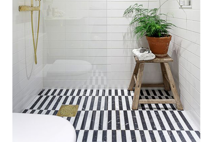 black-and-white-striped-bathroom-floor-tiles