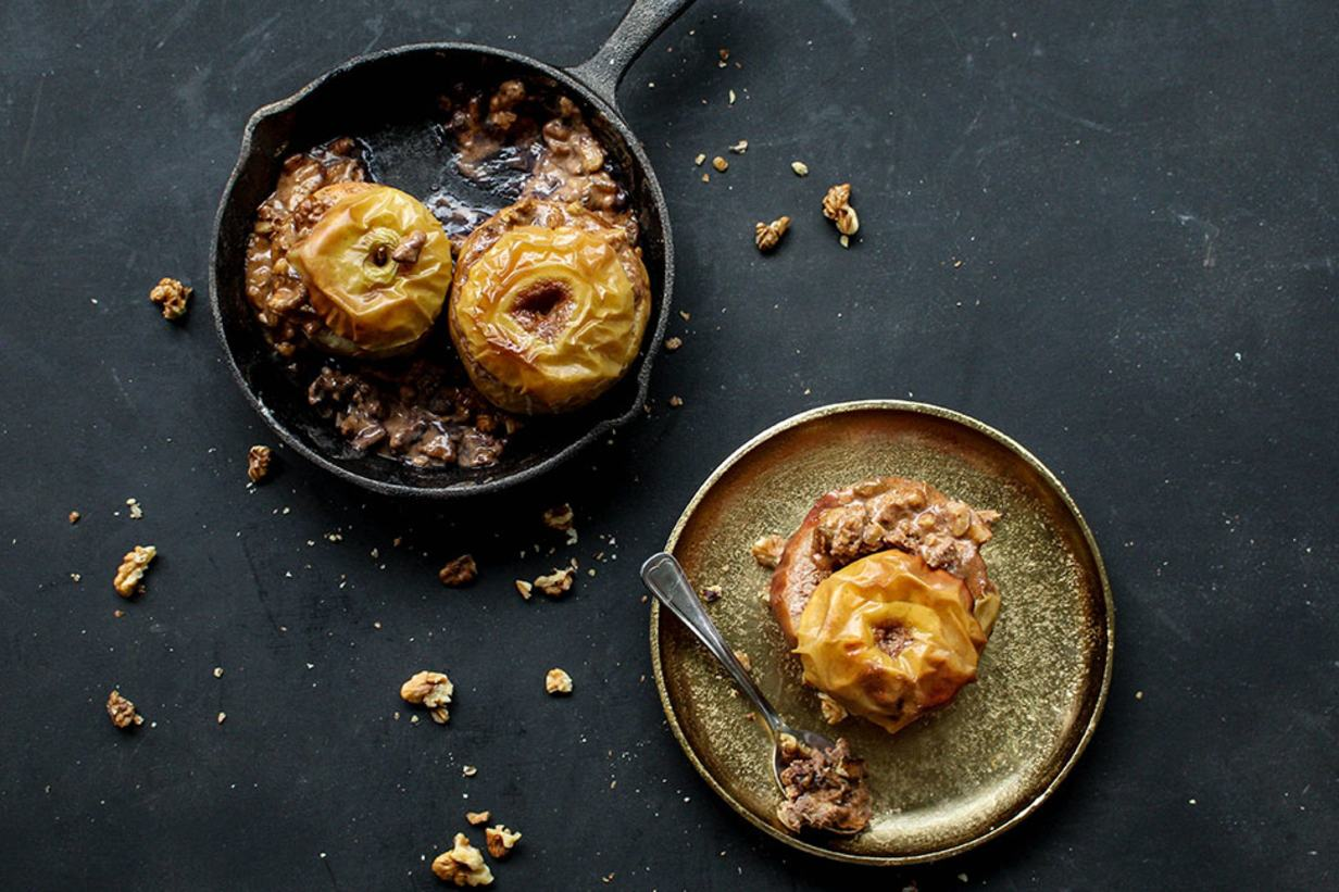 spicy baked winter apple