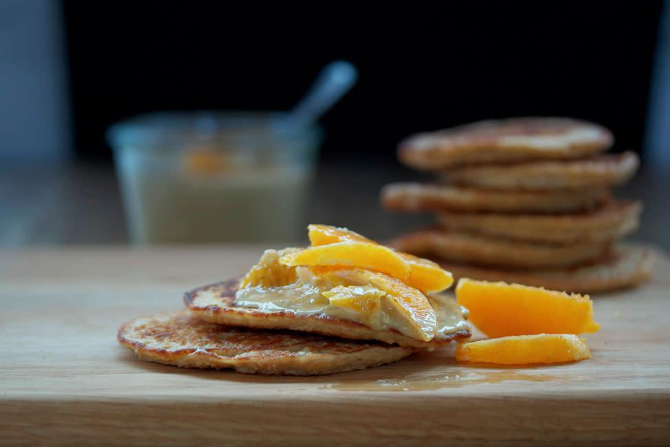 pancakes with creamy cashew sauce
