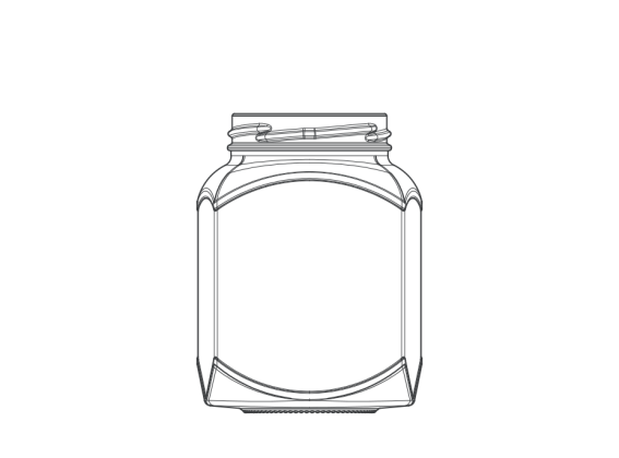 Hexagon jar 04522