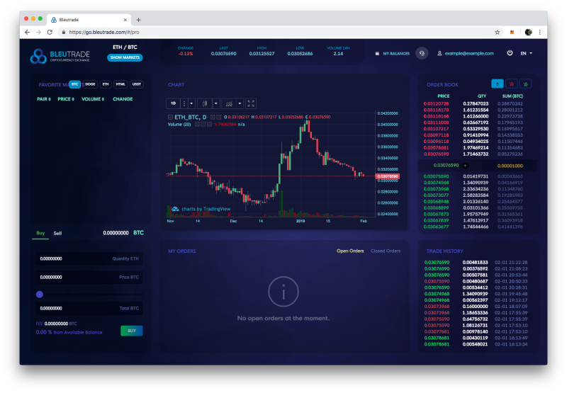 Bleutrade crypto exchange
