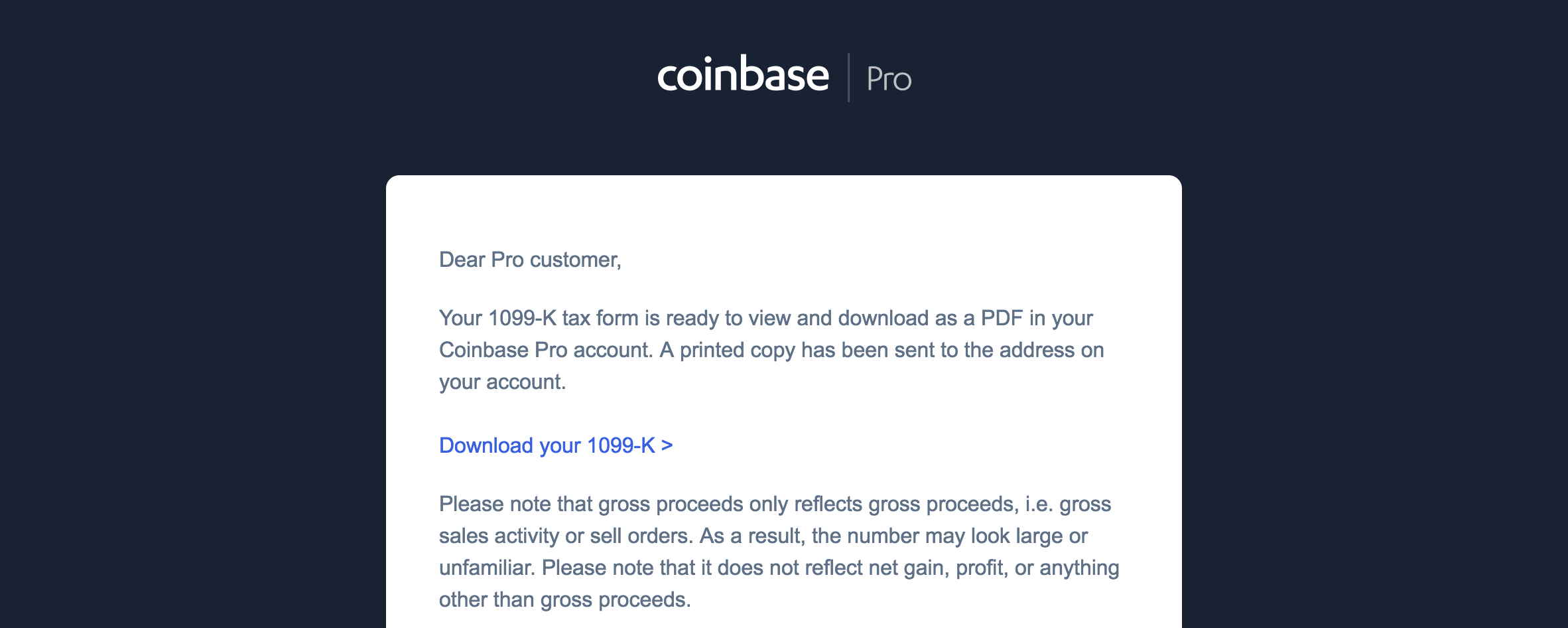 Coinbase Pro sent me a 1099-K  What do I do now? | TokenTax Blog