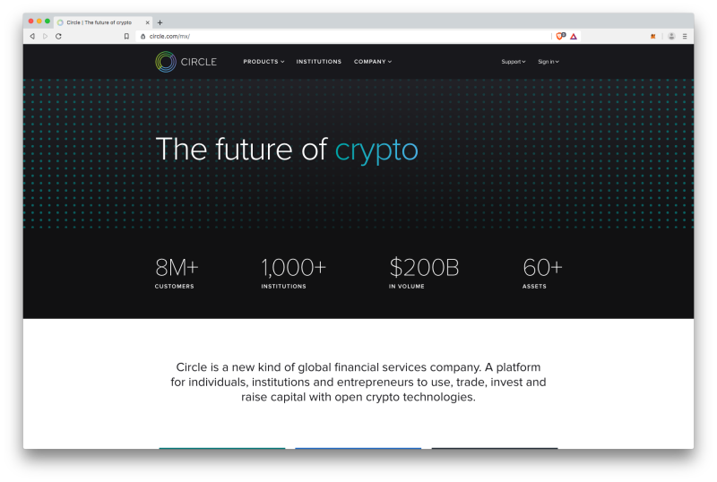 Circle crypto exchange