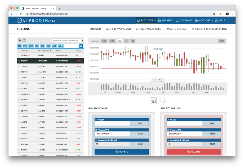 Livecoin crypto exchange
