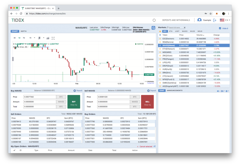 Tidex crypto exchange