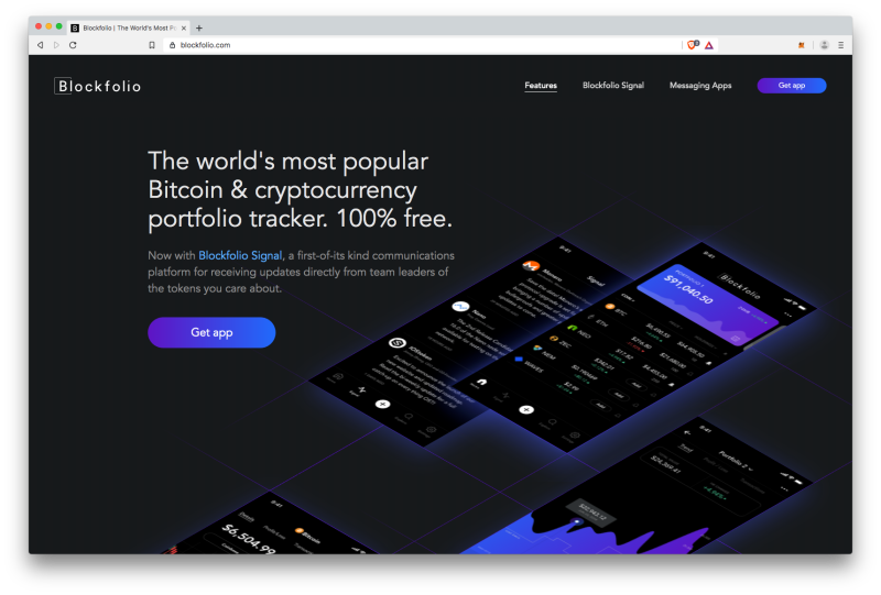 Blockfolio website