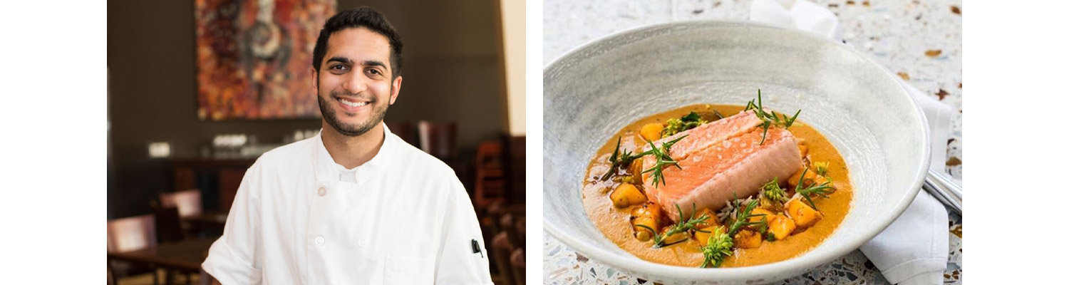 Chef Arun Gupta  |  Slow roasted Arctic char with peach moilee