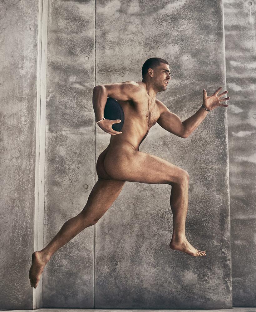 Nude real male athletes nude