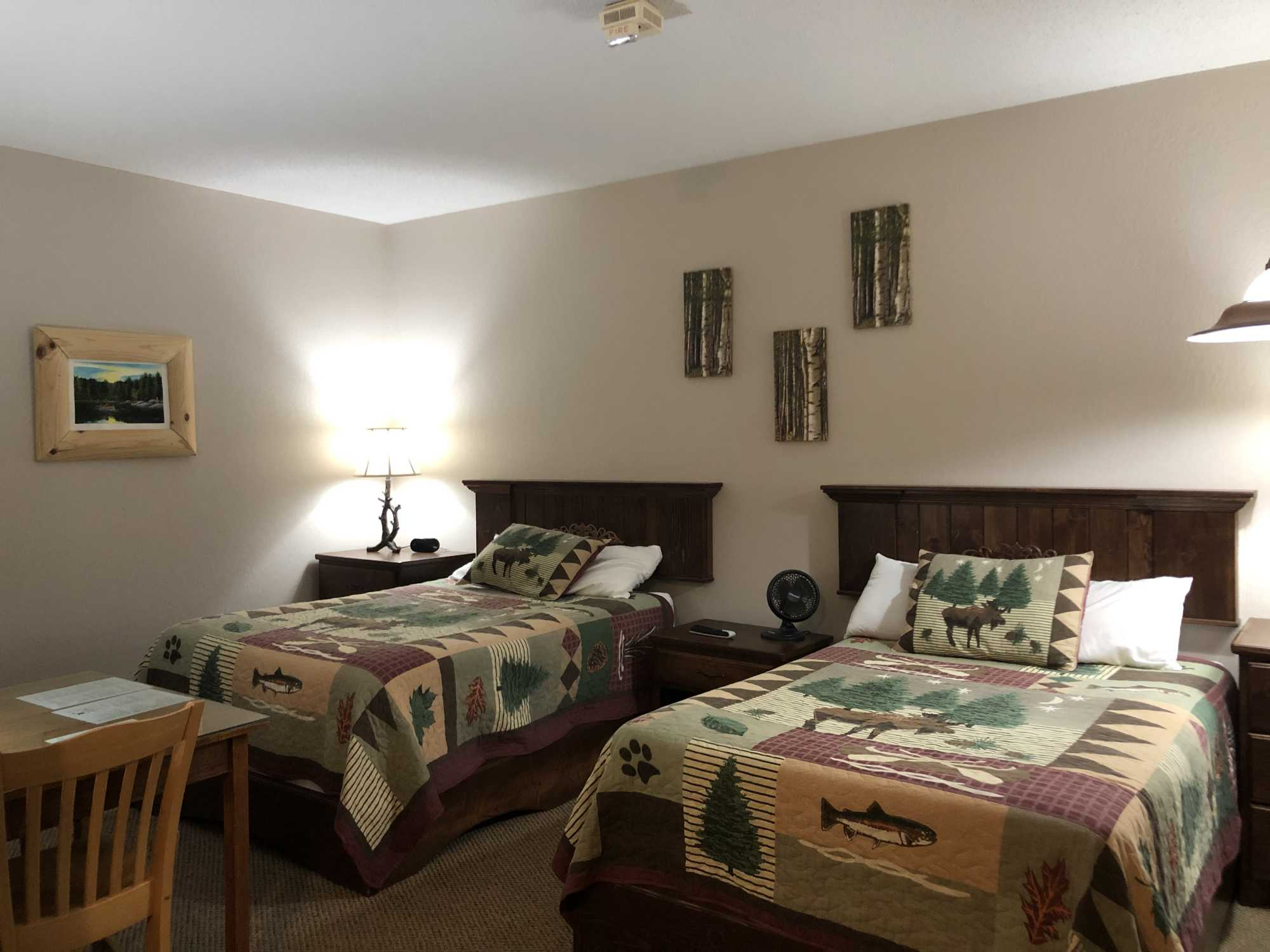 2 Full Size Bed rooms with adjoining doors