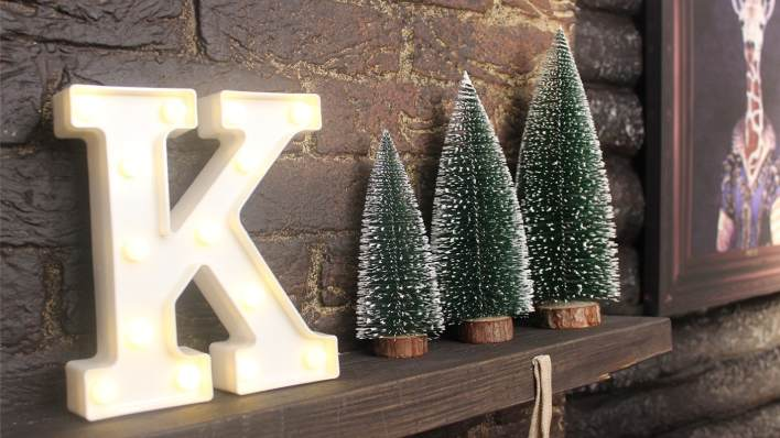 K letter block and tree