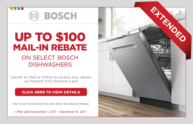 Bosch Dishwasher Promotion