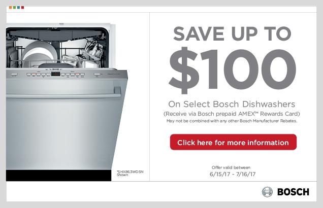 Bosch Dishwasher Promotion