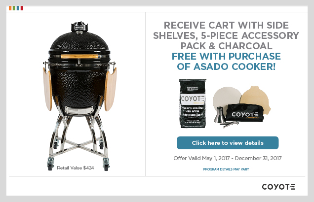 Coyote Asado Cooker Promotion