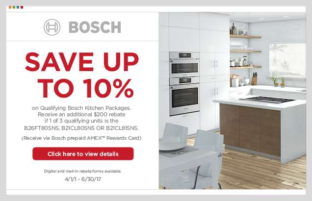 Bosch Kitchen Package Promotion