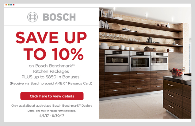 Bosch Benchmark™ Kitchen Package Promotion