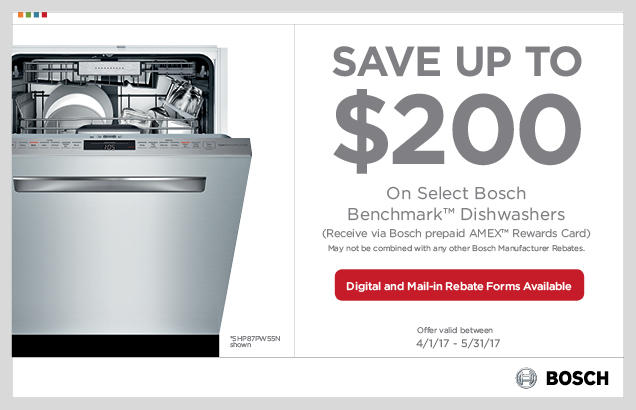 Bosch Benchmark™ Dishwasher Promotion
