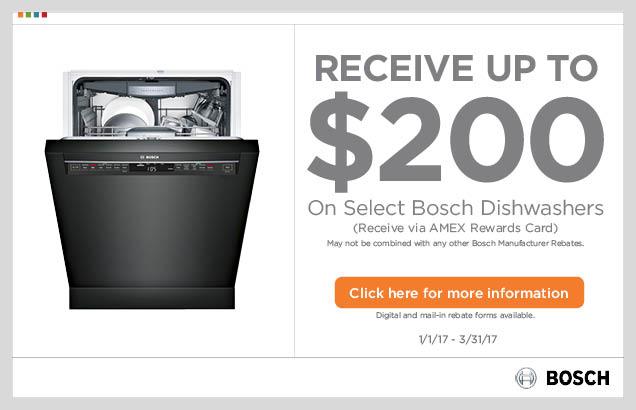 Bosch Benchmark™ Dishwasher Promotion