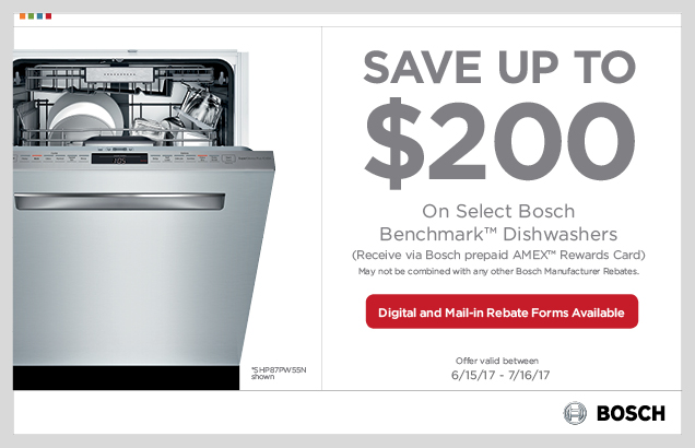 Bosch Benchmark Dishwasher Promotion