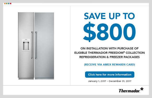 Thermador Freedom Series Installation Rebate