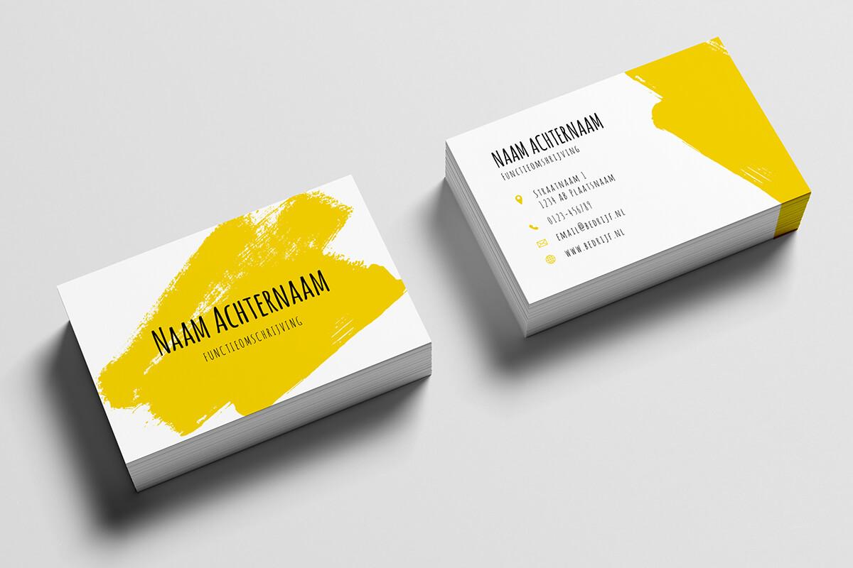 bc88727e2e7 10 gratis templates voor je visitekaartjes | Drukwerkdeal.nl