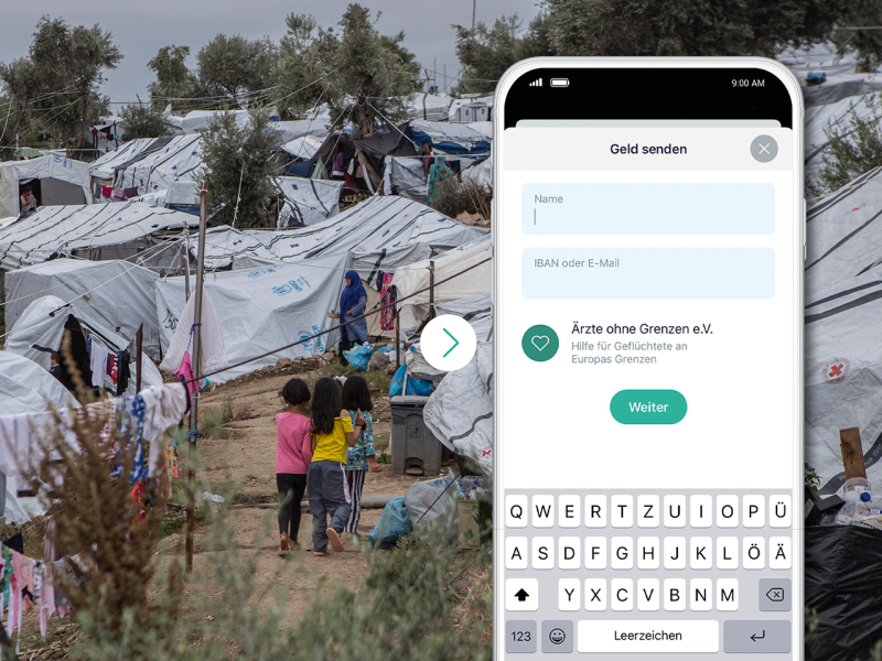 Help for refugees – donation campaign