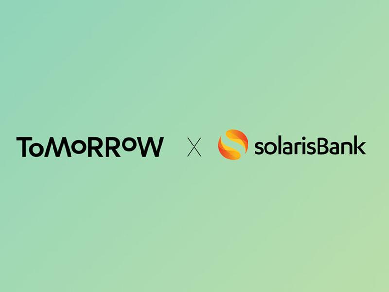 Tomorrow logo und Solarisbank logo