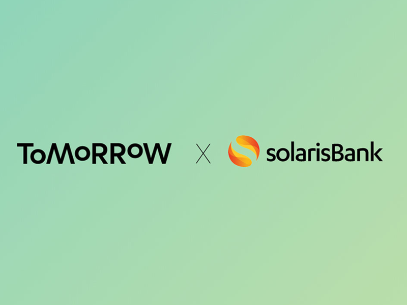 Tomorrow Logo und Solarisbank Logo