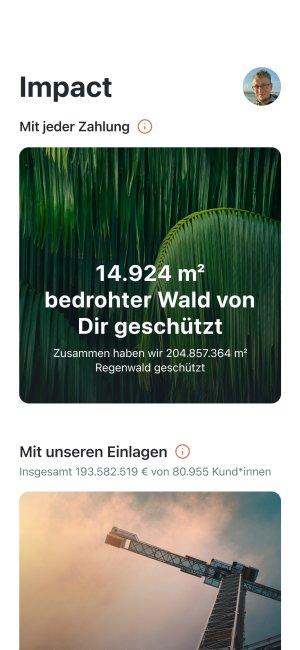 App Screenshot des Impact Boards