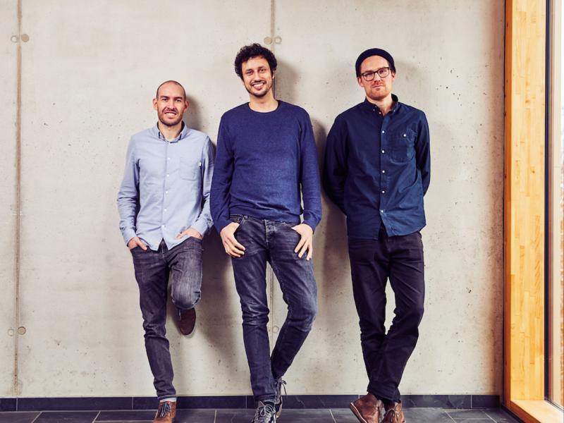 Die drei Gründer: Michael Schwerkart, Inas Nureldin, Jakob Berndt (von links nach rechts)