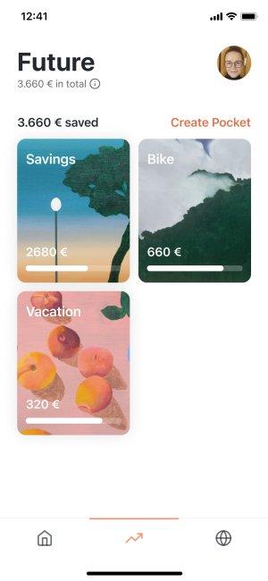 Pockets overview screenshot