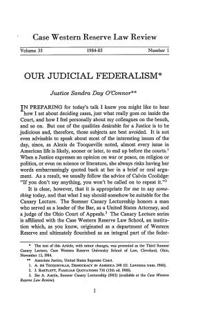Our Judicial Federalism