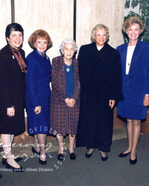 "Justice O'Connor with ""Fab Five"""