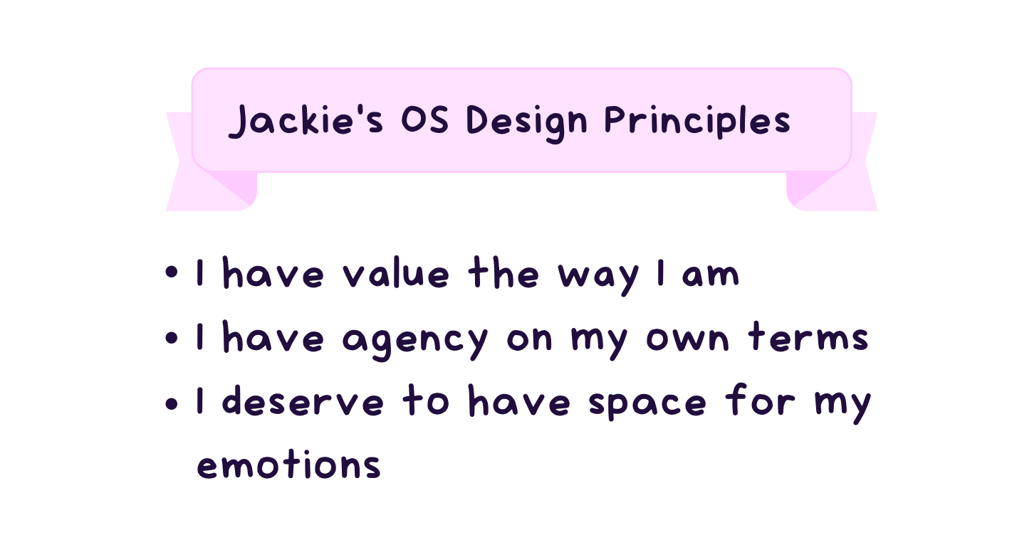 Design Principles of Jackie's OS