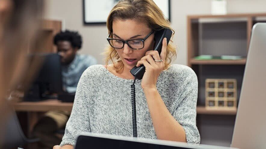 Employee calling from non-fixed VoIP