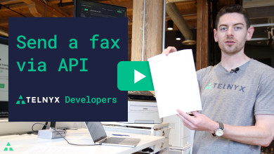 "Thumbnail image for ""VIDEO: How to Send a Fax with the Telnyx Programmable Fax API"""