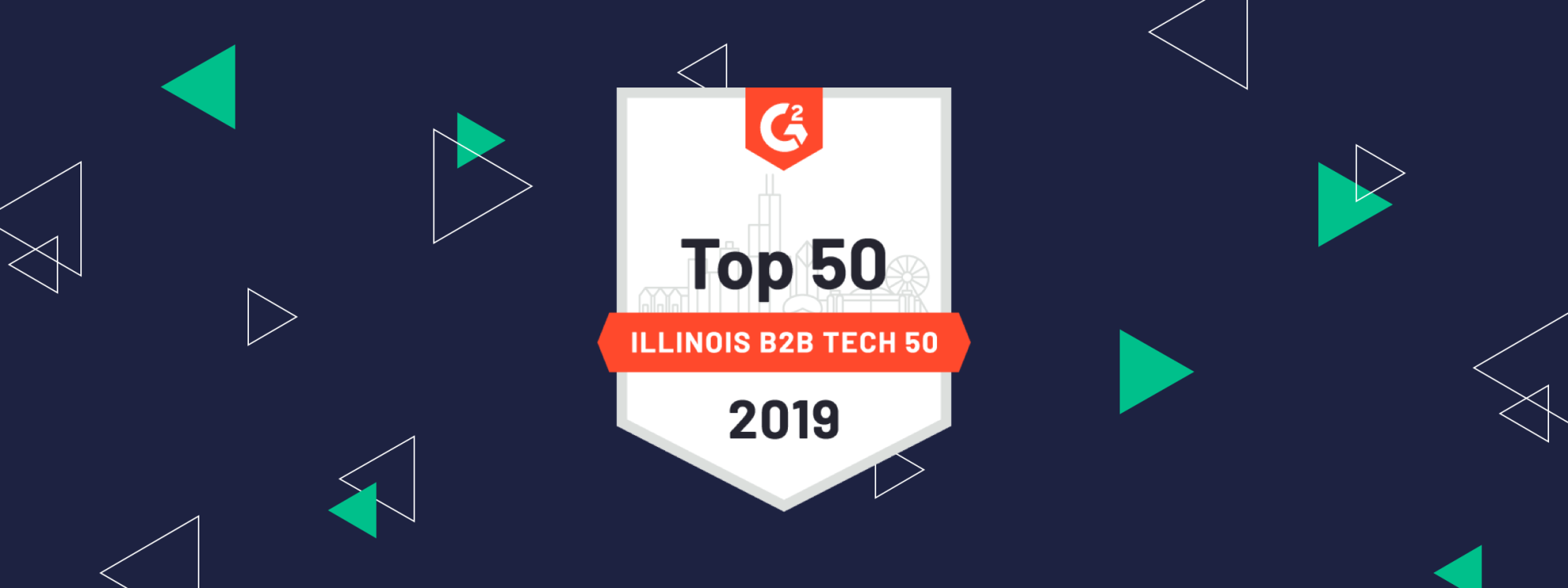 G2 Crowd Top 50 Illinois B2b Tech 50