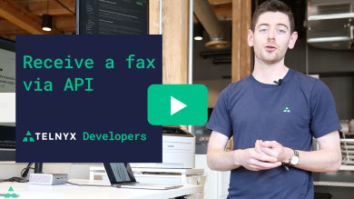 "Thumbnail image for ""VIDEO: How to Receive a Fax with the Telnyx Programmable Fax API"""