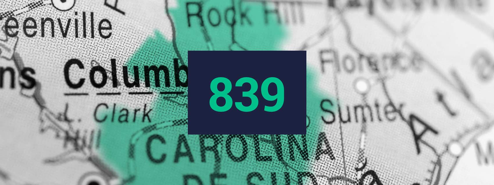 South Carolina area code banner